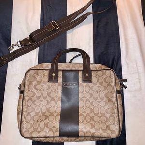 Coach Signature Coated Canvas Briefcase/Laptop Bag